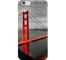 Golden Gate Bridge Hand colored Monochrome iPhone Case/Skin