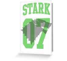 House Stark Jersey Greeting Card