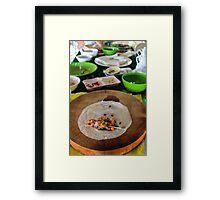traditional Vietnamese food Framed Print