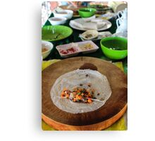 traditional Vietnamese food Canvas Print