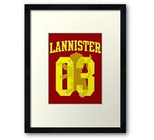 House Lannister Jersey Framed Print