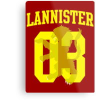 House Lannister Jersey Metal Print