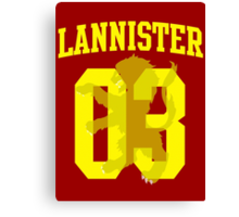 House Lannister Jersey Canvas Print