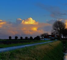 Colored clouds above Schouwen. by Adri  Padmos