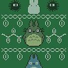 Totoro Christmas Jumper by dbizal