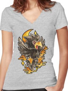 Murkrow Women's Fitted V-Neck T-Shirt