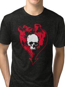 Heart and Skull Tri-blend T-Shirt