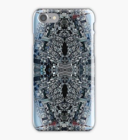 blue urban man iPhone Case/Skin