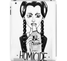 Wednesday Addams- Homicide iPad Case/Skin