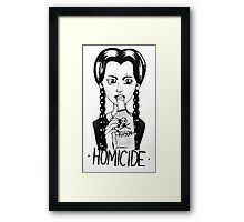 Wednesday Addams- Homicide Framed Print