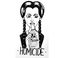 Wednesday Addams- Homicide Photographic Print