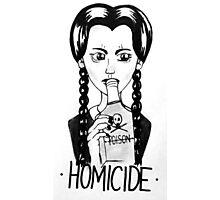 Wednesday Addams- Homicide Photographic Print