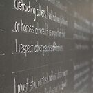 The writing's on the wall by Darryl Beer