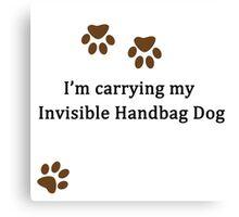 Invisible Handbag Dog Canvas Print