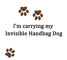 Invisible Handbag Dog Photographic Print