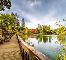 Mirror Pond Boardwalk by John Williams