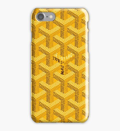 Goyard jaune iPhone Case/Skin