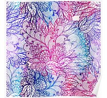 Hand drawn floral ornament Poster