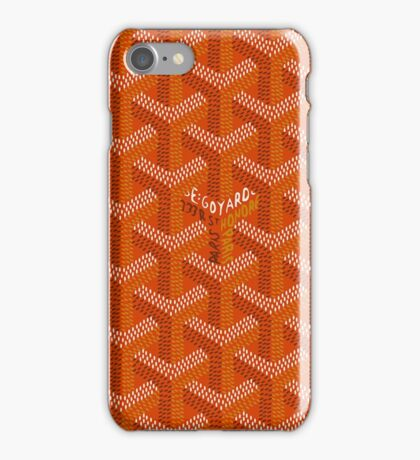 Goyard orange iPhone Case/Skin