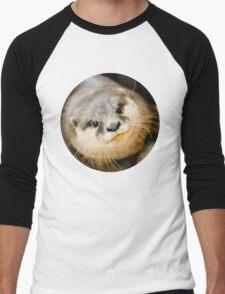 Otter Closeup Men's Baseball ¾ T-Shirt
