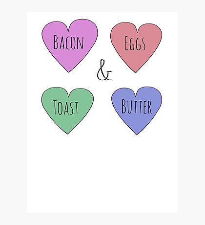 Bacon and Egg Love Photographic Print