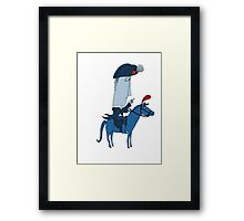 Napoleon and his Horse Framed Print