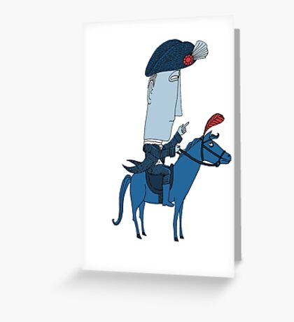 Napoleon and his Horse Greeting Card