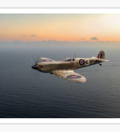 Spitfire EN152 over Gulf of Tunis Sticker
