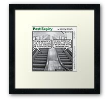 Cartoon : Escalator Envy Framed Print
