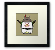 Totoro praise the sun Framed Print