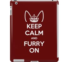 Keep Calm and Furry On iPad Case/Skin