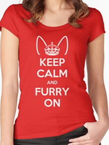 Keep Calm and Furry On Women's Fitted Scoop T-Shirt