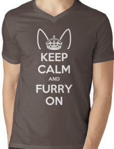 Keep Calm and Furry On Mens V-Neck T-Shirt