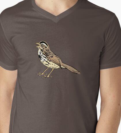 Song Sparrow Mens V-Neck T-Shirt