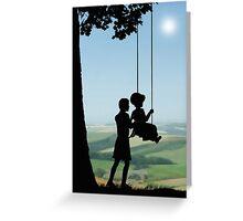 Childhood Dreams, Push Me Greeting Card