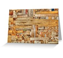 Wood Blocks Greeting Card