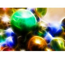 Coloured orbs Photographic Print