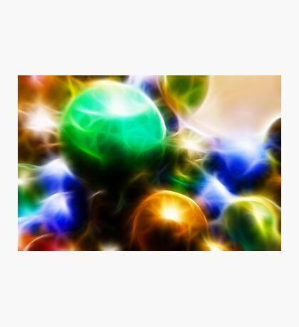 Coloured orbs Photographic Print