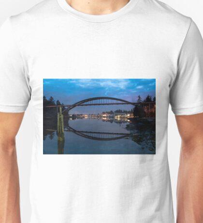 Rainbow Bridge at Twilight Unisex T-Shirt