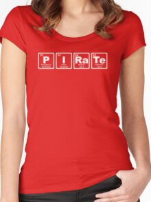 Pirate - Periodic Table Women's Fitted Scoop T-Shirt