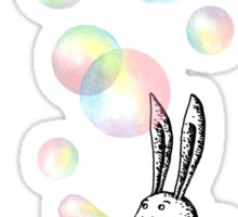 Rabbit with Bubbles Sticker