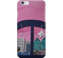 A Magical Watercolour and Paper Sculpture World. iPhone Case/Skin