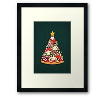 Pizza on Earth - Pepperoni Framed Print
