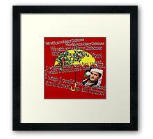 Barney Stinson - Merry Christmas Framed Print