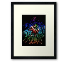 Majora's Mask - Colored Framed Print