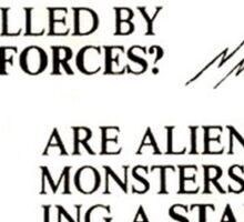 ALIEN SECRET FORCES Sticker