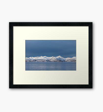 Snowy mountains Framed Print