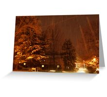 """A Snowy Evening in Knoxville"" (no.9, from this series)... products Greeting Card"