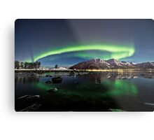 Auroras over the pond Metal Print