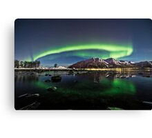 Auroras over the pond Canvas Print